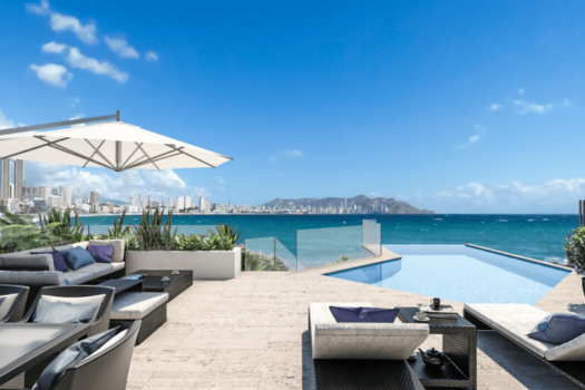 Benidorm New Luxury Penthouse 1st line with stunning views