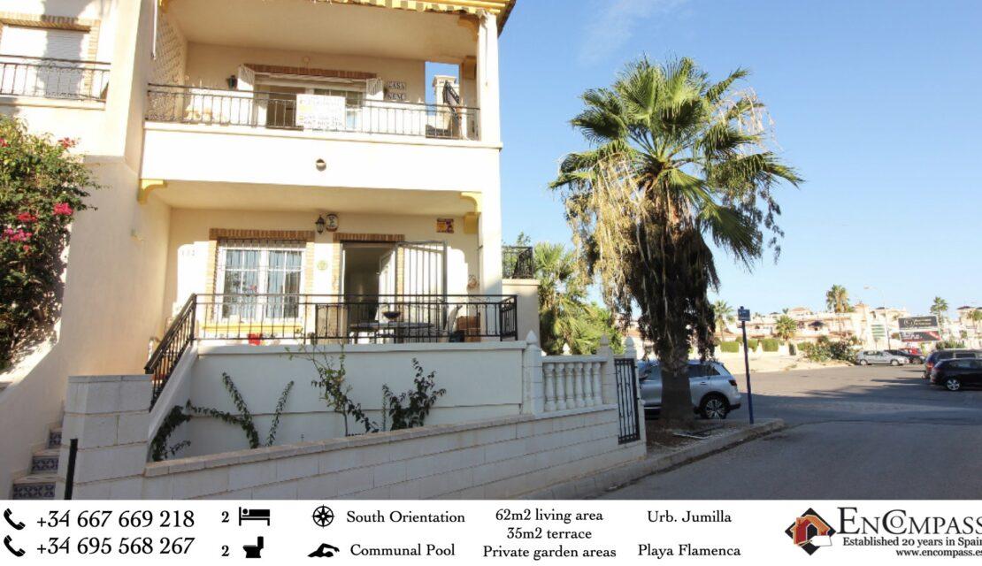 Jumilla Playa Flamenca 2 bed 2 bath south facing for sale 109,000€