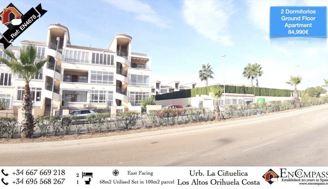 Property for sale in Los Altos Punta Prima Costa Blanca Spain 84,900€